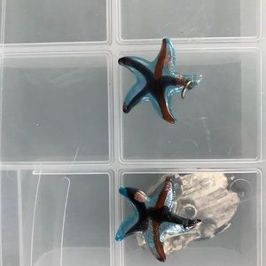 Starfish glass pendants